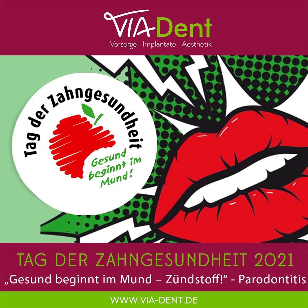 2021-09 Tag der Zahngesundheit Parodontitis ViaDent